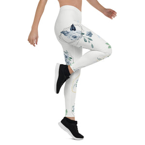 Roses-white-blue-green-gold-elegant-women-urban-leggings-2