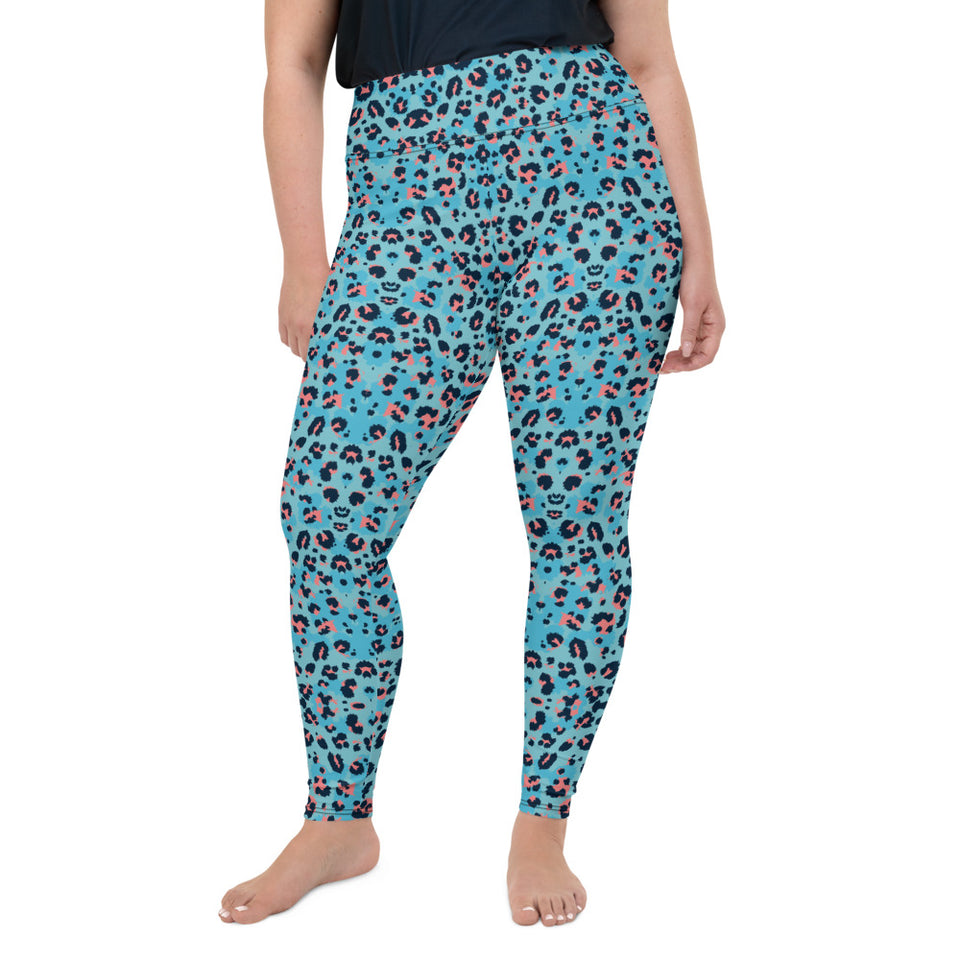leopard-cool-blue-animal-print-women-plus-size-leggings