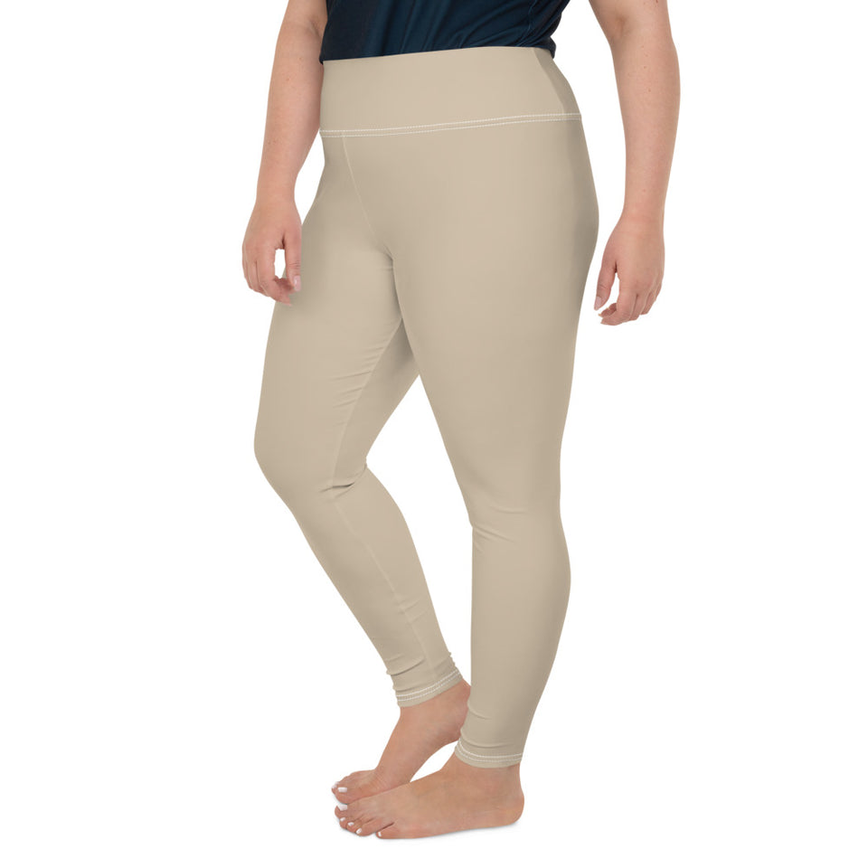 solid-sand-beige-women-plus-size-leggings