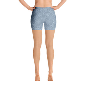 light-blue-mandala-geometric-winter-urban-shorts-for-women