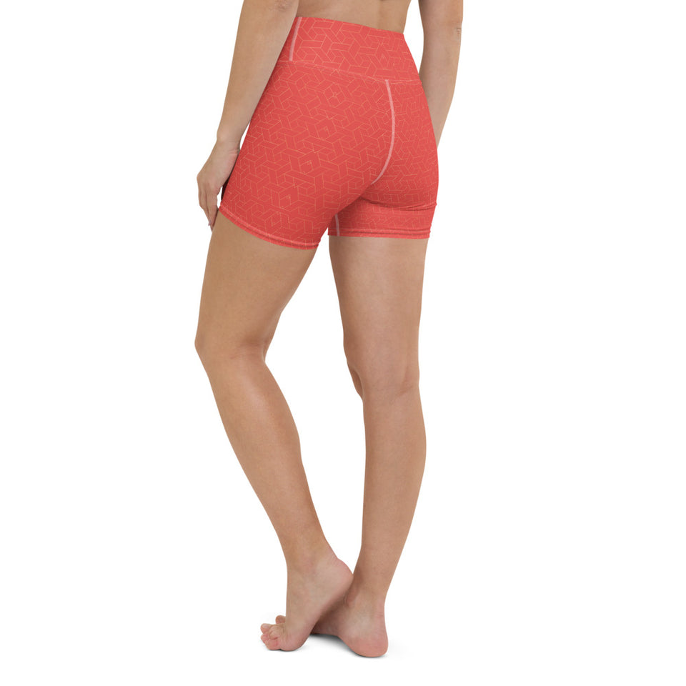 coral-red-women-yoga-shorts-4