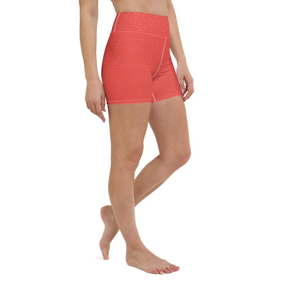 coral-red-women-yoga-shorts-shop