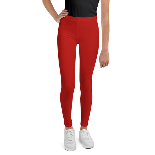 Crimson Red Teen Leggings