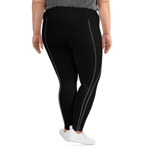 Sporty Stripes II Dark Super Curvy Leggings