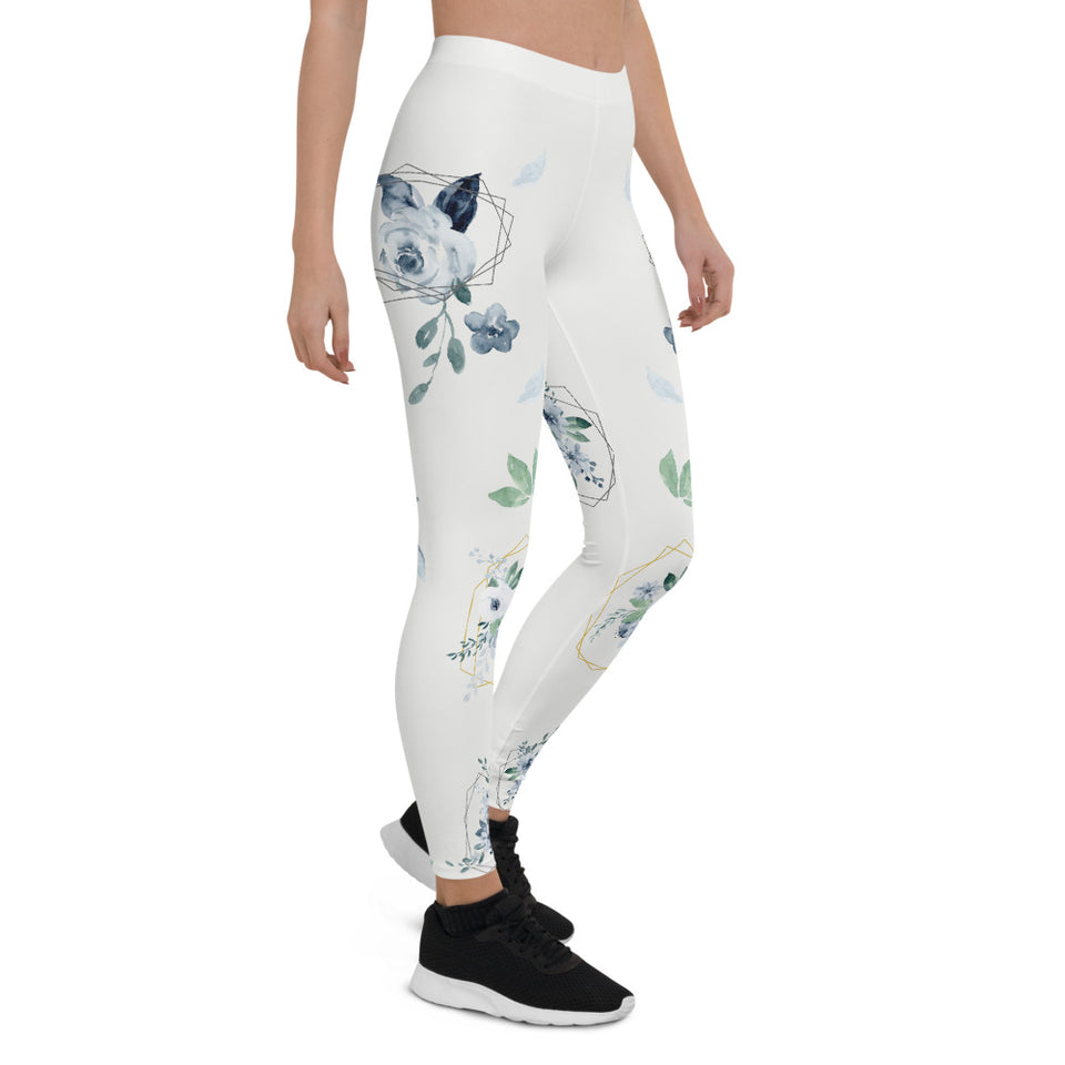 Roses-white-blue-green-gold-elegant-women-urban-leggings-3