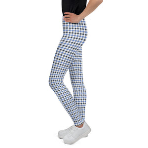 gingham-blue-grey-white-elegant-classic-women-youth-leggings-teens-girls