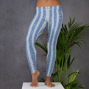 linen-print-texture-striped-light-blue-white-design-elegant-leggings