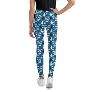 cats-blue-green-black-white-cream-youth-leggings-teens