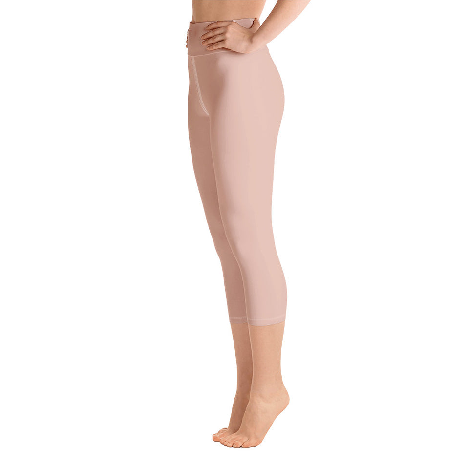 shop-peach-pink-yoga-capri-leggings-for-women