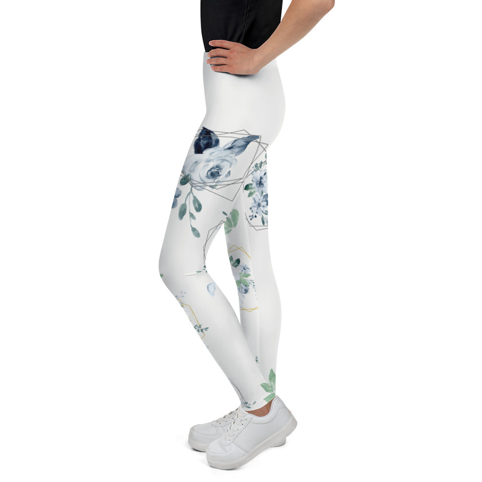 Roses-white-blue-green-gold-elegant-youth-leggings-shop