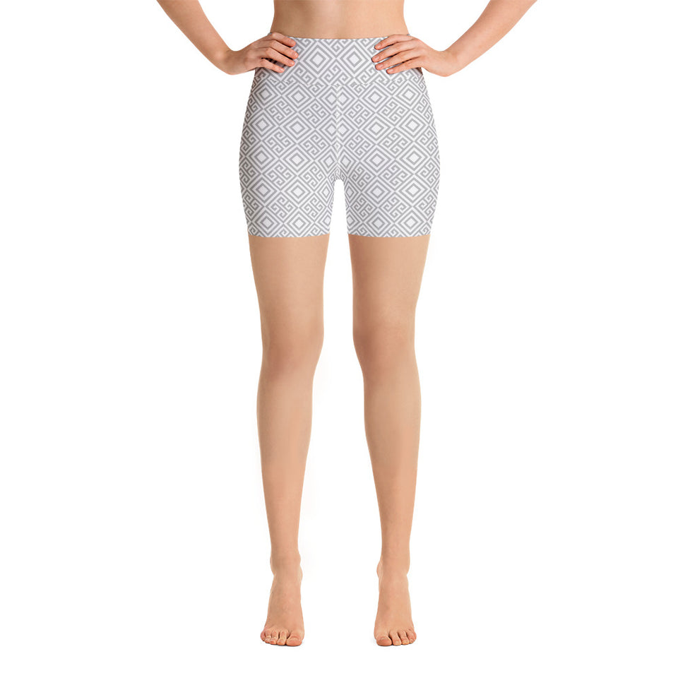 clarity-geometric-white-grey-elegant-chic-yoga-shorts-women