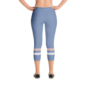 light-blue-cream-ivory-sporty-stripes-elegant-women-urban-capri-leggings-chic