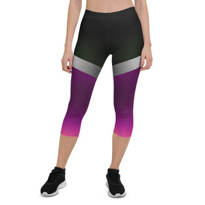 Shine Violet Urban Capri Leggings