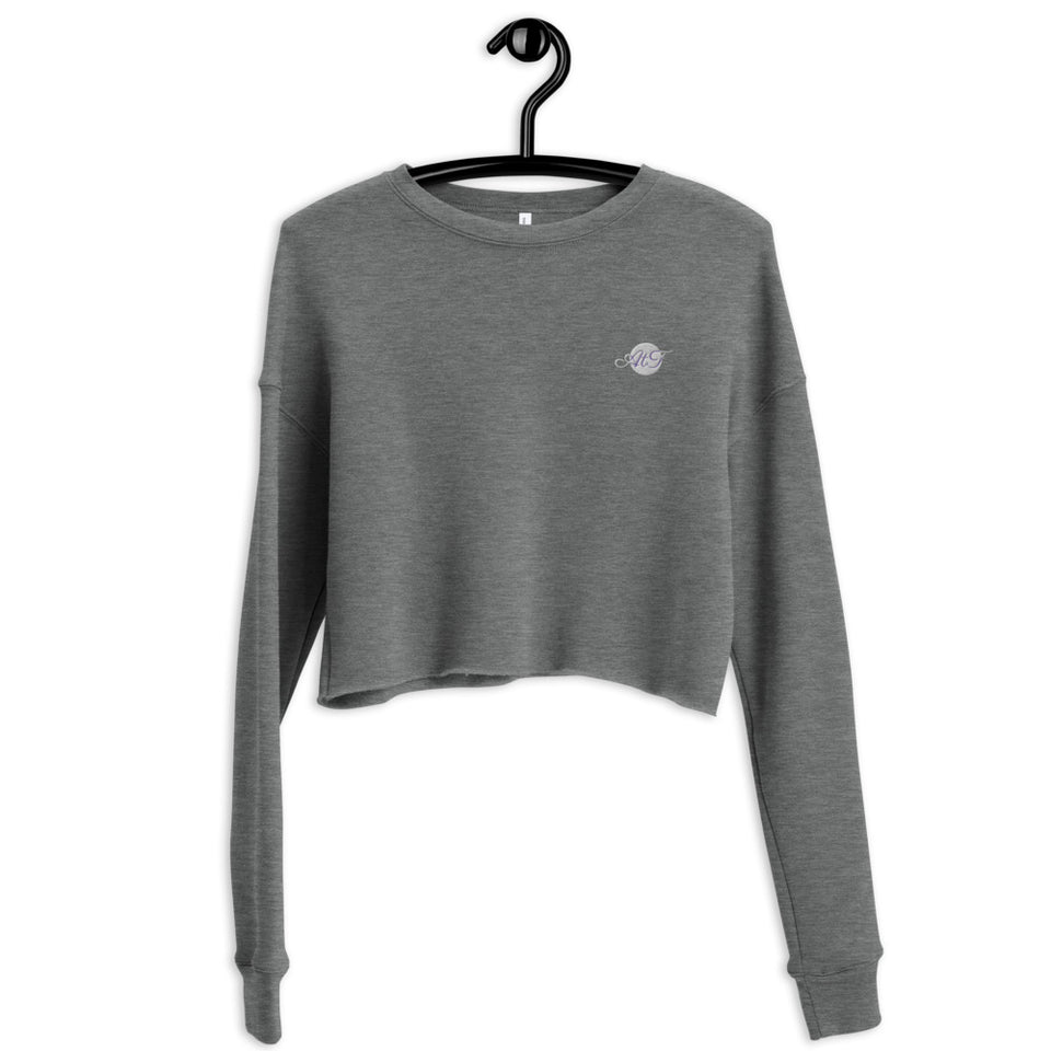 Heather Crop Crew Sweatshirt