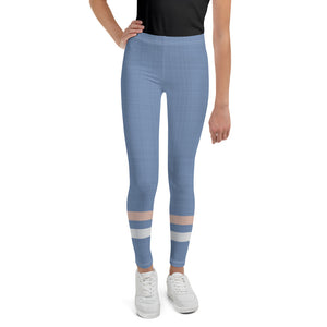 light-blue-cream-ivory-sporty-stripes-elegant-women-youth-leggings