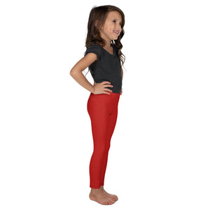 Crimson Red Kid's Leggings