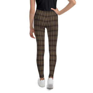 Tartan-brown-yellow-elegant-classic-leggings-youth-shop-girls