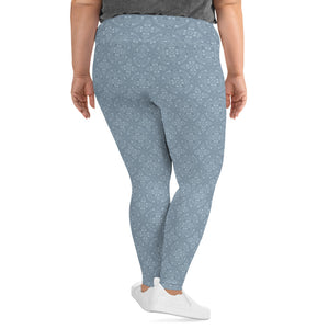 light-blue-mandala-geometric-winter-plus-size-leggings
