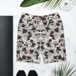 Gray Camo Yoga Shorts