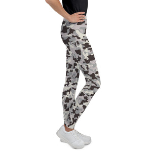 Gray Camo Teen Leggings