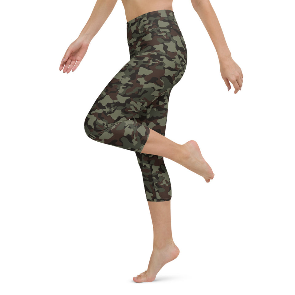 Classic Camo Yoga Capri Leggings