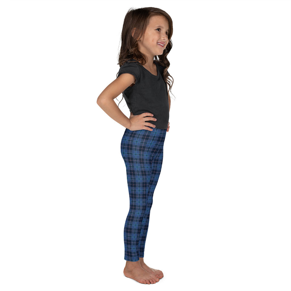 navy-blue-pink-tartan-classic-elegant-beautiful-kids-leggings