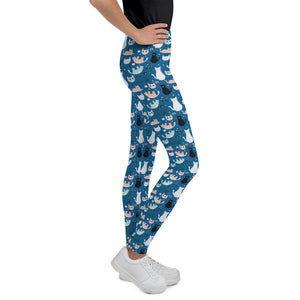 cats-blue-green-black-white-cream-youth-leggings-chic