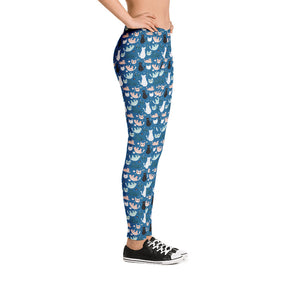 kitty-cats-design-blue-urban-leggings-women