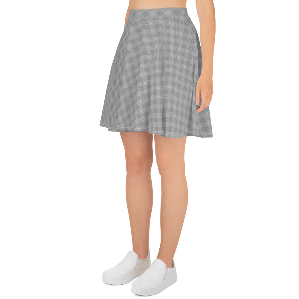 Modern Argyle Skater Skirt for Women