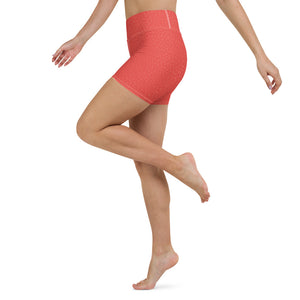 coral-red-women-yoga-shorts-2