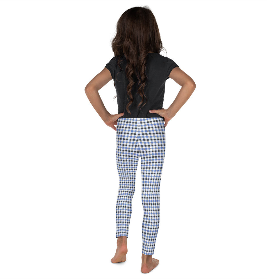 gingham-blue-grey-white-elegant-classic-kids-leggings-girls