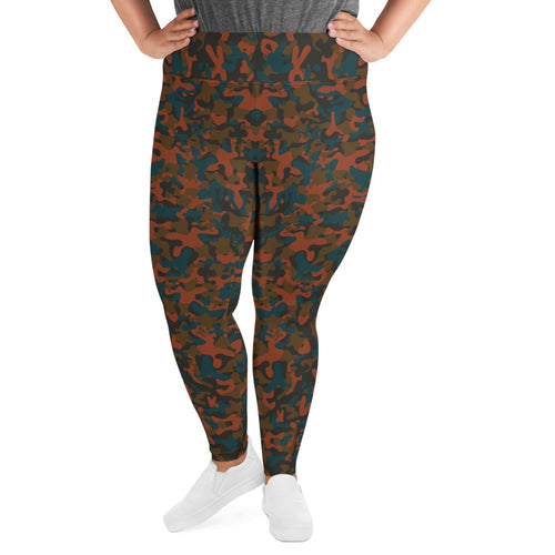 Rust Camo Super Curvy Leggings