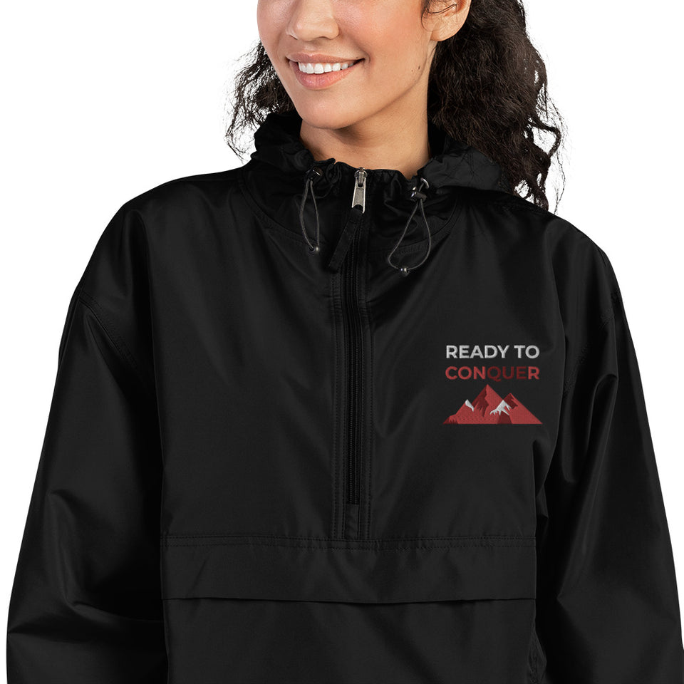 Black Ready to Conquer Champion Packable Jacket