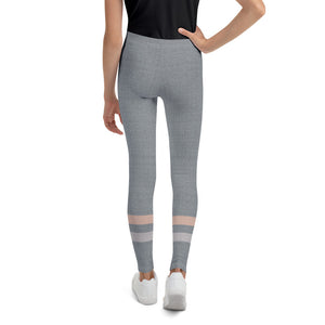 Gray-Cream-sporty-stripes-elegant-youth-leggings-shop