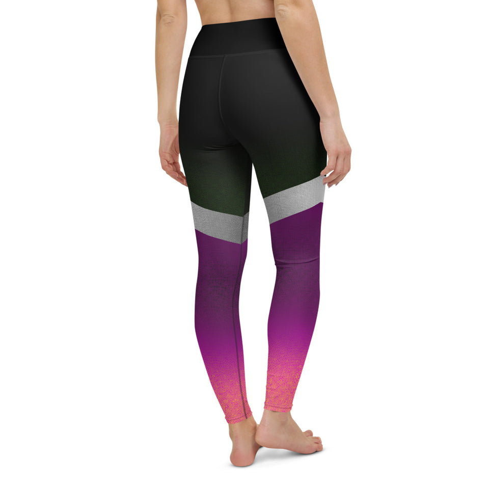 Shine Violet Yoga Leggings