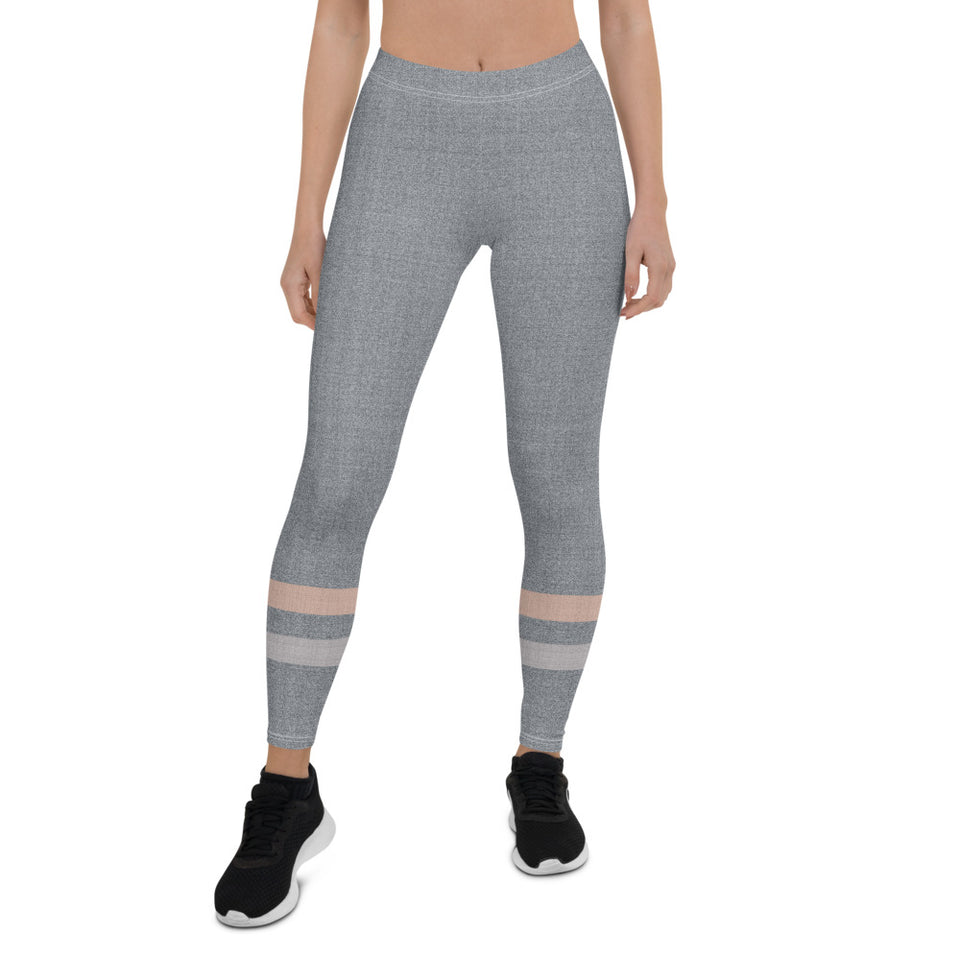 Gray-Cream-sporty-stripes-elegant-women-urban-leggings-shop-chic