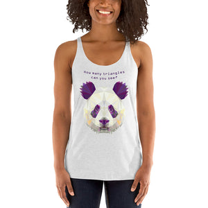 Count-the-triangles-Panda-Racerback-Tank-Top-2