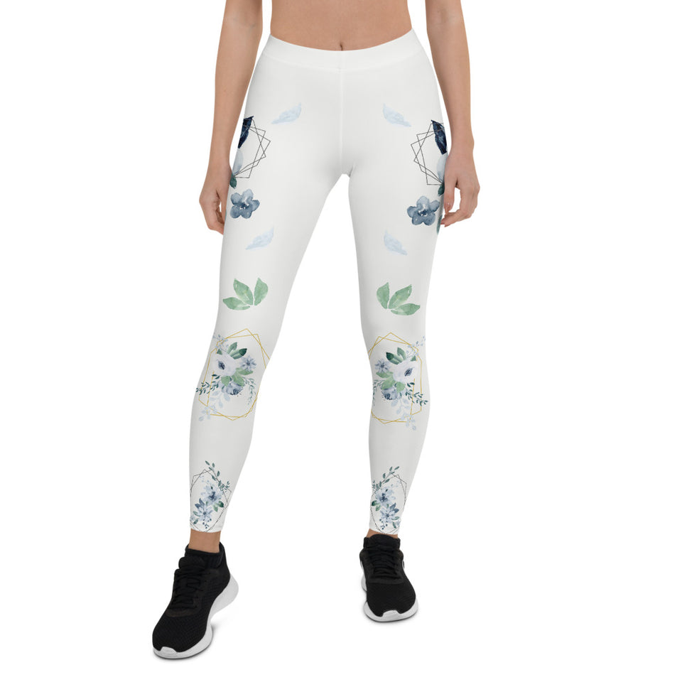 Roses-white-blue-green-gold-elegant-women-urban-leggings-1