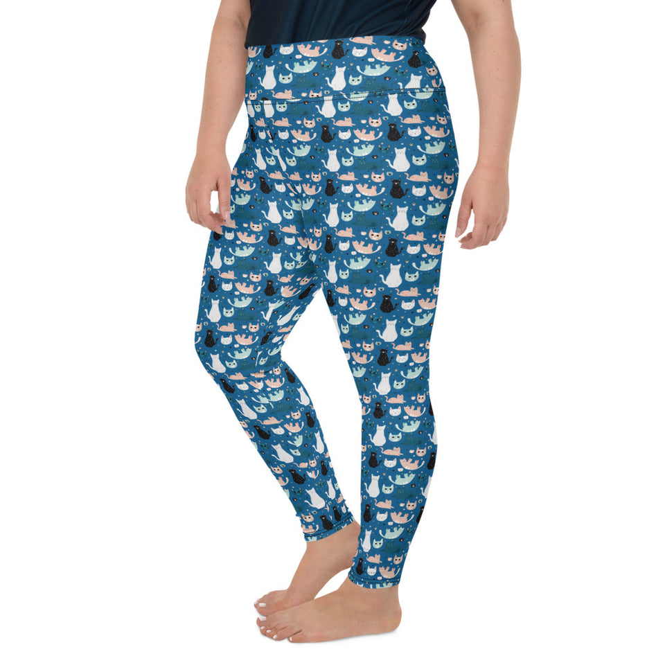 cats-blue-green-black-white-cream-plus-size-leggings