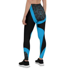 Blue Cyberpunk Urban Leggings