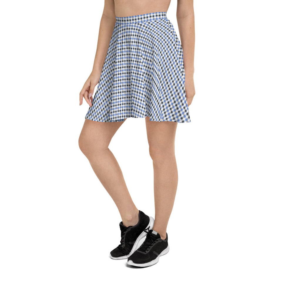 Gingham Skater Skirt for Women