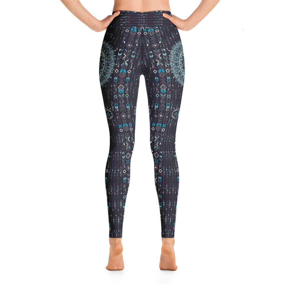 aztec-mandala-geometric-navy-blue-jade-green-yoga-leggings-shop