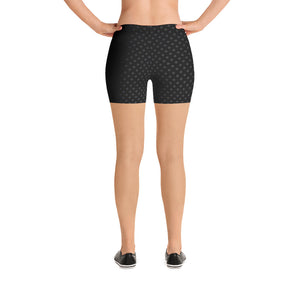polka-dots-black-and-charcoal-gray-shorts-women