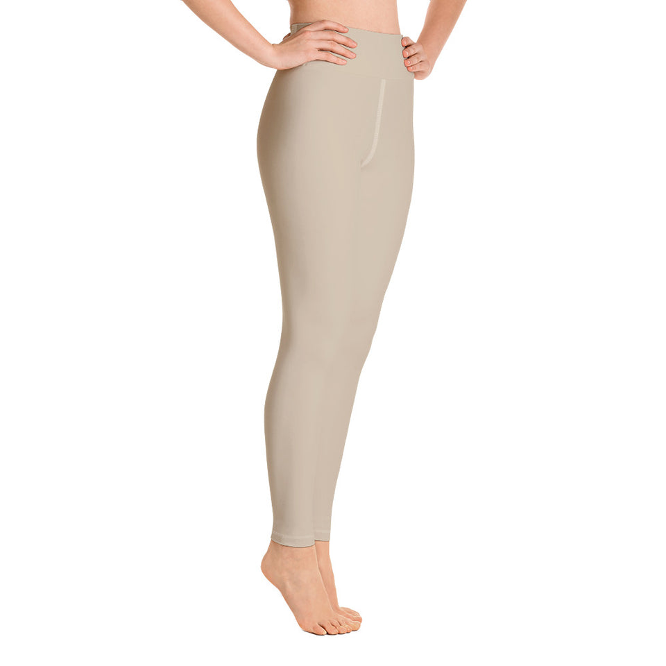 solid-sand-beige-women-yoga-leggings-all-the-time