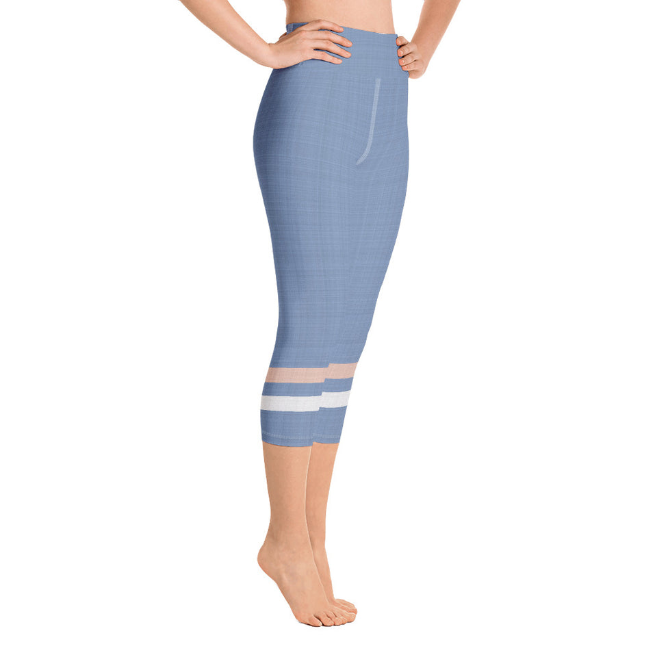 light-blue-cream-ivory-sporty-stripes-yoga-capri-leggings
