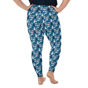 cats-blue-green-black-white-cream-plus-size-leggings-curvy