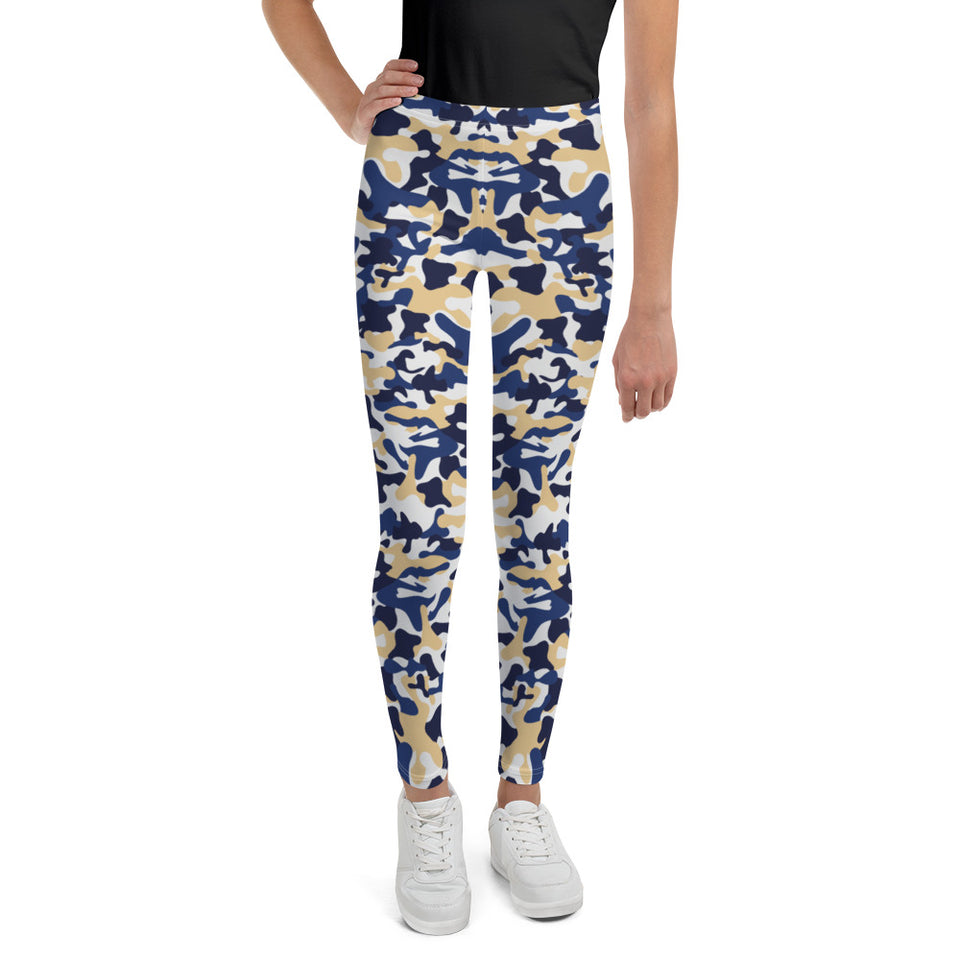 Contrast Camo Teen Leggings