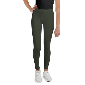 neutral-elegant-olive-green-youth-leggings