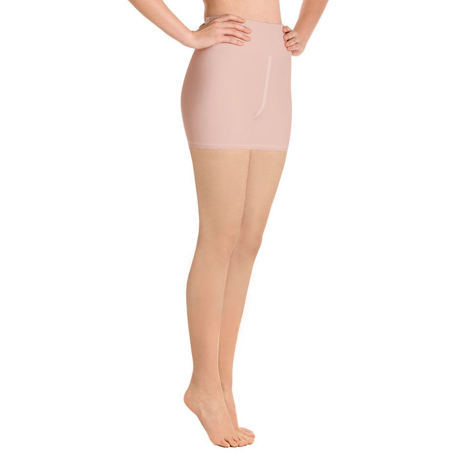 solid-peach-pink-women-yoga-shorts