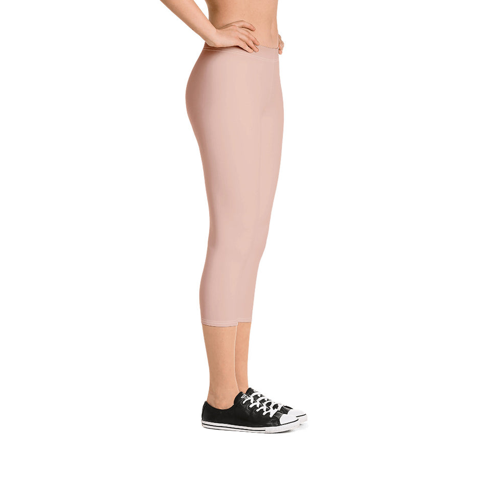 neutral-peach-pink-leggings-capri